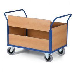 Modułowy wózek platformowy - 4 ściany pełne, 1 dłuższa ściana podzielona