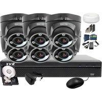 Zestawy monitoringowe, Zestaw do monitoringu: BCS-XVR0801-III 6x Kamera BCS-DMQE3202IR3-G Dysk 1TB