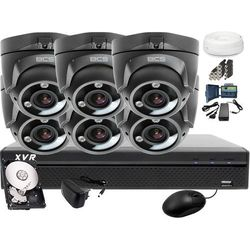 Zestaw do monitoringu: BCS-XVR0801-III 6x Kamera BCS-DMQE3202IR3-G Dysk 1TB