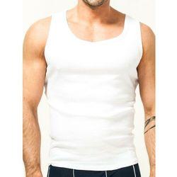 Podkoszulka bawełniania biała męska XL
