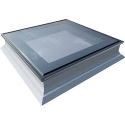 Okno do dachów płaskich OKPOL PGX B1 PVC 60x60 nieotwierane 3-szybowe