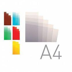 Okładki do bindowania A4 folia przezroczysta czerwona O.CLEAR Standard 100ark. OPUS