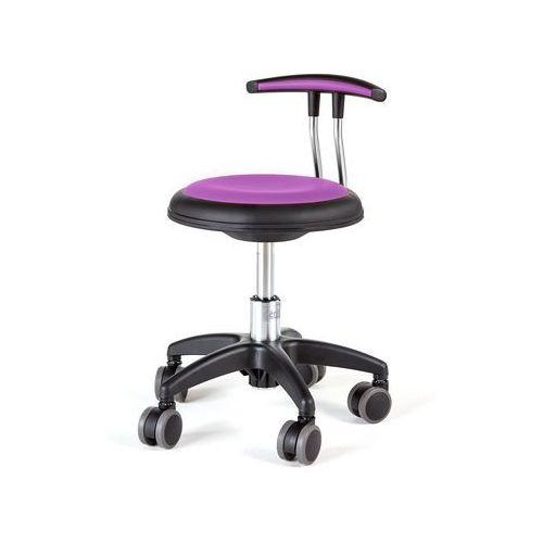 Pozostałe meble biurowe, Mobilny stołek STAR, 300-380 mm, fioletowy