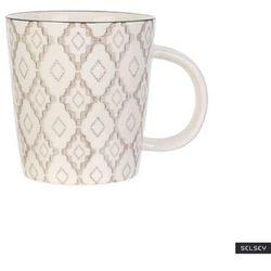 SELSEY Kubek ceramiczny Frechles w jasny wzór 250 ml