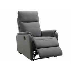 Fotel z elektryczną funkcją relaksu ONESTI z tkaniny — szary