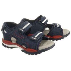 GEOX J920RD J BOREALIS BOY 000CE C0735 navy/red, sandały dziecięce, rozmiary:26-27