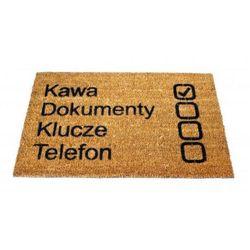 Wycieraczka Kawa, Dokumenty, Klucze, Telefon