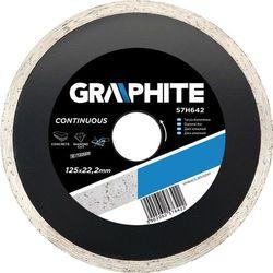 Tarcza diamentowa 125x22,2mm pełna Graphite 57H642