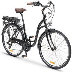 Rower elektryczny INDIANA E-City D17 Czarny + Zamów z DOSTAWĄ W PONIEDZIAŁEK!