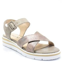 CAPRICE 9-28700-20 BEŻOWE - Wygodne sandały WYPRZEDAŻ -45% (-45%)