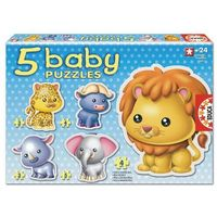 Puzzle, Educa, Baby, Zwierzęta, puzzle, 3-3-4-4-5 elementów