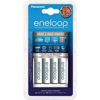 Akumulatorki, Panasonic Eneloop BQ-CC55 + 4 x R6/AA Eneloop 2000mAh BK-3MCCE