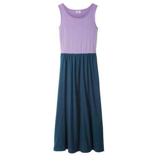 Sukienki dla dzieci, Letnia sukienka, dł. do kostki bonprix kolor bzu - ciemnoniebieski