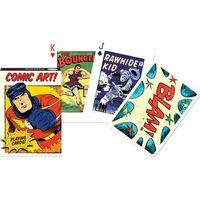 Gry dla dzieci, Karty do gry Piatnik 1 talia, Vintage Comic Art.