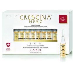 Crescina Re Growth 500 woman faza pośrednia wypadania włosów u kobiet 10 ampułek