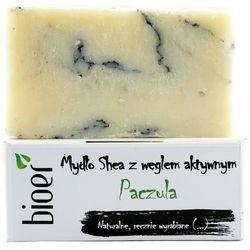 Mydło z masłem Shea z węglem aktywnym - Paczula - 130g - marki Bioer