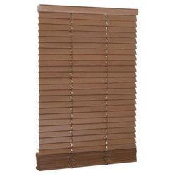Żaluzja drewniana 120 x 150 cm dąb 27 mm INSPIRE