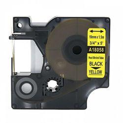 Rurka termokurczliwa DYMO Rhino 18058 19mm x 1.5m ø 4.6mm-8.7mm żółta czarny nadruk S0718340 - zamiennik | OSZCZĘDZAJ DO 80% -