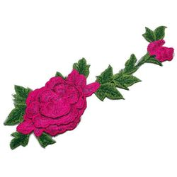 Naszywka kwiat warstwowy amarant 33cm x max 10,5cm - AMARANT