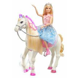 Mattel Barbie Princess Adventure Księżniczka i koń ze światłami i dźwiękami
