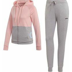 Adidas dres damski Wts Lin Ft Hood XS różowy