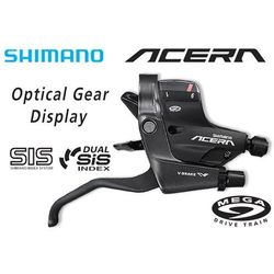 ASTM390RAL Klamkomanetka Shimano Acera ST-M390 V-Brake 9 rz. prawa czarna