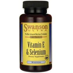 Witamina E + Selen Vitamin E + Selenium 90 kapsułek SWANSON