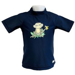 Koszulka kąpielowa bluzka dzieci 120cm filtrem UV50+ - Navy Jungle \ 120cm