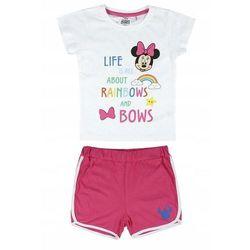 Disney piżama dziewczęca Minnie 104 biały/różowy