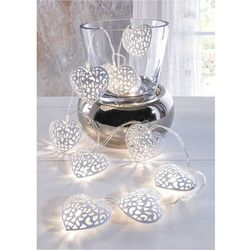"Lampki LED ""Serca"" (10 części) bonprix biały"