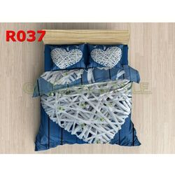 Pościel 3 D bawełna100% 160 x200 +2 poduszki 70x80 R037