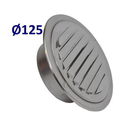 Pozostałe akcesoria do wentylacji, Kratka nierdzewna czerpnia wyrzutnia UELA Średnice od 100mm do 200mm. CZerpnia do Wentylacji i Rekuperacji Średnica [mm]: 125
