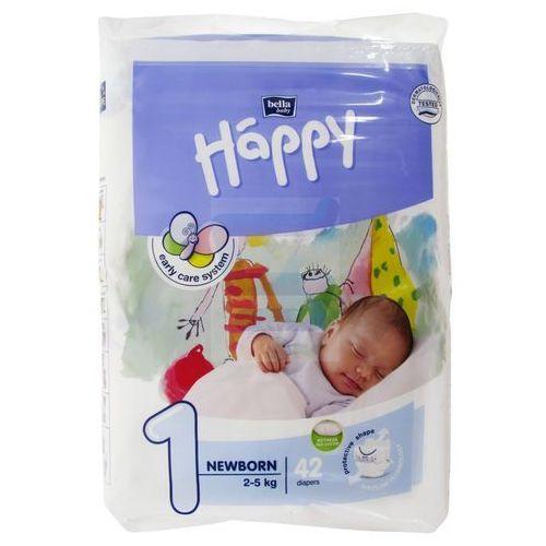 Pieluchy jednorazowe, Pieluszki Happy Newborn 6x42 szt. + 50% taniej Oilatum Żel 2w1 300ml