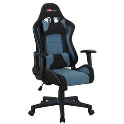 Fotel obrotowy SIGNAL Zanda czarny-niebieski, Fotel gamingowy dla gracza! DOSTAWA GRATIS