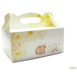 Ozdobne pudełko na ciasto na chrzest - 1 szt.
