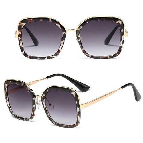 Okulary przeciwsłoneczne, Okulary przeciwsłoneczne damskie czarne panterka