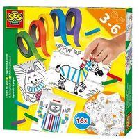 Kreatywne dla dzieci, Zestaw do wyklejania - 16 obrazów z kolor. taśmami