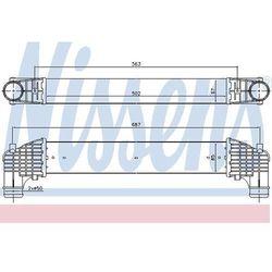 Chłodnica powietrza doładowującego - intercooler NISSENS 96750