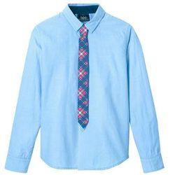 Koszula z krawatem Slim Fit (2 części) bonprix niebieski