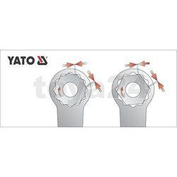Klucz oczkowy odgięty z polerowaną główką 18x19 mm / YT-0389 / YATO - ZYSKAJ RABAT 30 ZŁ