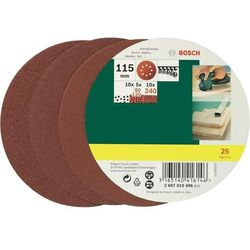 Zestaw arkuszy ściernych Bosch, ziarnistość: 80 - 240, śr. 115 mm, 25 szt.