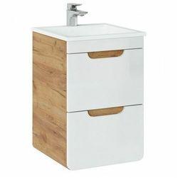 Szafka z umywalką i szufladami Borneo 2S - Biały