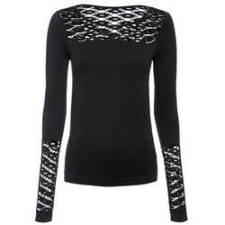 Shirt bonprix beżowo-czarny