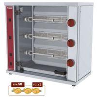 Grille gastronomiczne, Rożen gazowy na kurczaki | 3 widelce | 100W | 800x400x(H)735mm