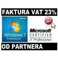 Systemy operacyjne, Microsoft Windows 7 Profesional PL COA od Partnera Microsoft 32/64bit FV23%