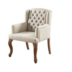 Fotel typu berżera z tkaniny PARUNA - Beżowy