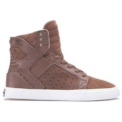 buty SUPRA - Womens Skytop Brown/Brogue-Bone (BRB) rozmiar: 35.5