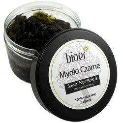 Mydło Czarne Savon Noir Kokosowe z Trawą Cytrynową - 200ml - Bioer