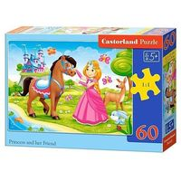 Puzzle, Puzzle 60 elementów Princess and Her Friend