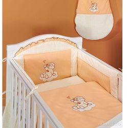 MAMO-TATO Ochraniacz do łóżeczka 60x120 Śpioch na chmurce brzoskwiniowy - PROMOCJA